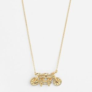 NWT Kate Spade In Tandem Bicycle Necklace